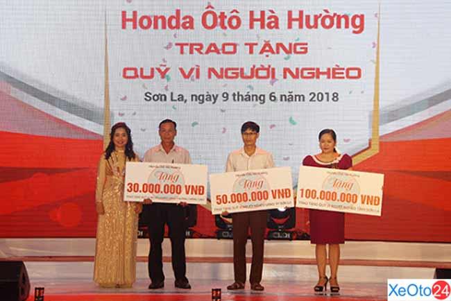 Đóng góp xã hội của đại lý Honda ô tô Hà Hường