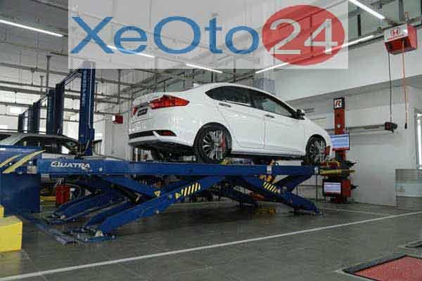 Khu vực sửa xe Honda Lào Cai