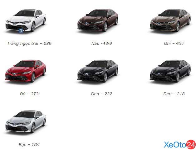 Màu xe Toyota Camry 2020