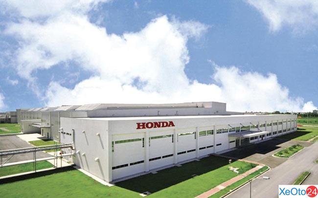 Mặt trước nhà máy Honda ô tô Việt Nam
