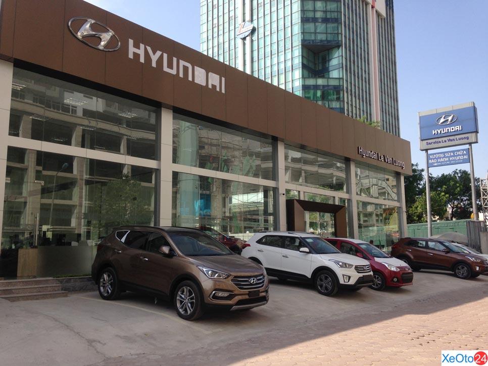 Showroom Hyundai Lê Văn Lương rộng lớn