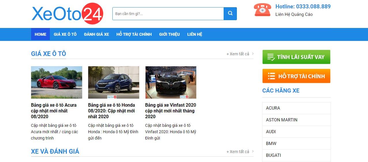 Thông tin trên xeoto24.com rất đa dạng và phong phú