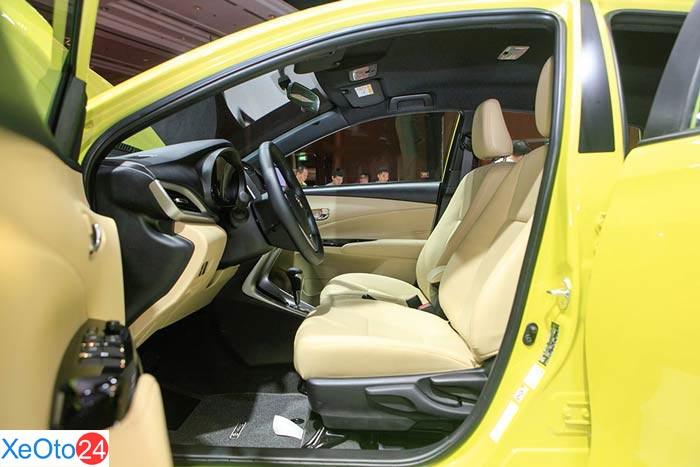 Toyota Yaris 2020 được trang bị ghế bọc da