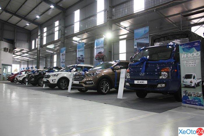 Xưởng bảo dưỡng của Hyundai Cầu Diễn