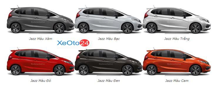 Bảng màu xe Jazz 2021