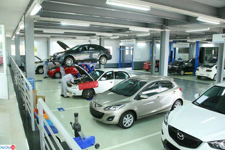 xưởng bảo hành định kỳ cho các xe