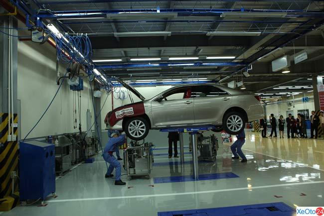 Dịch vụ sửa chữa bảo hành xe ô tô tại Toyota Hiroshima Vĩnh Phúc
