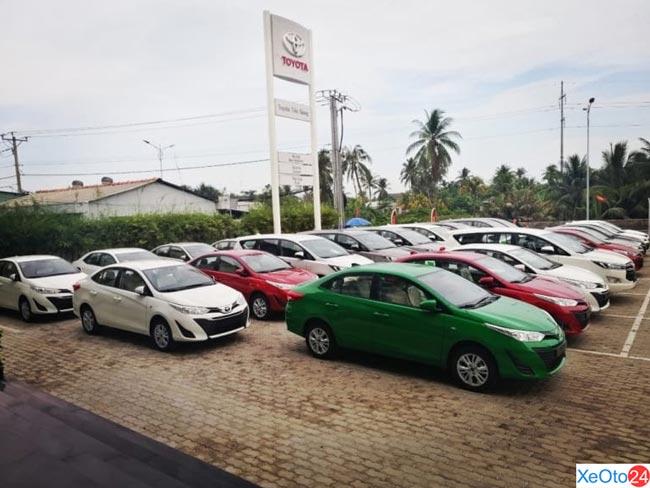 Các mẫu xe đa dạng tại Toyota Tiền Giang