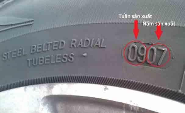 Cách xem hạn sử dụng của lốp xe