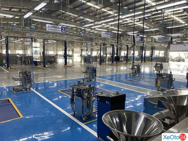 Đầu tư về cơ sở vật chất hiện đại, xưởng dịch vụ rộng rãi
