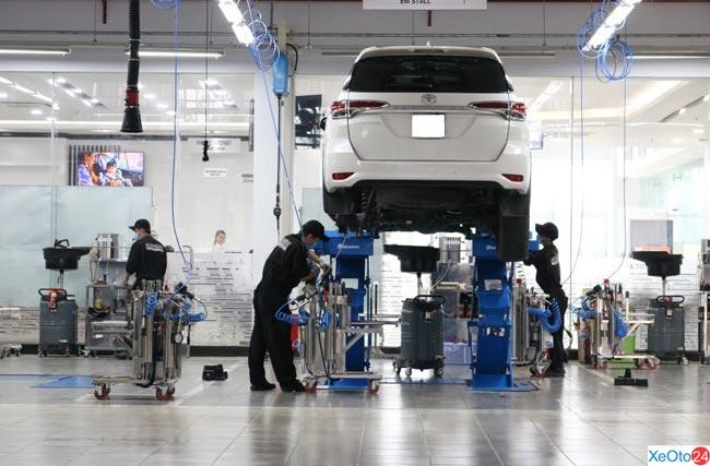 Dịch vụ bảo dưỡng định kỳ tại Toyota Tiền Giang
