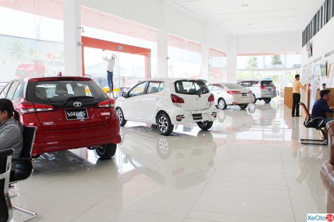Diện tích đại lý Toyota rộng nhất Sài Gòn