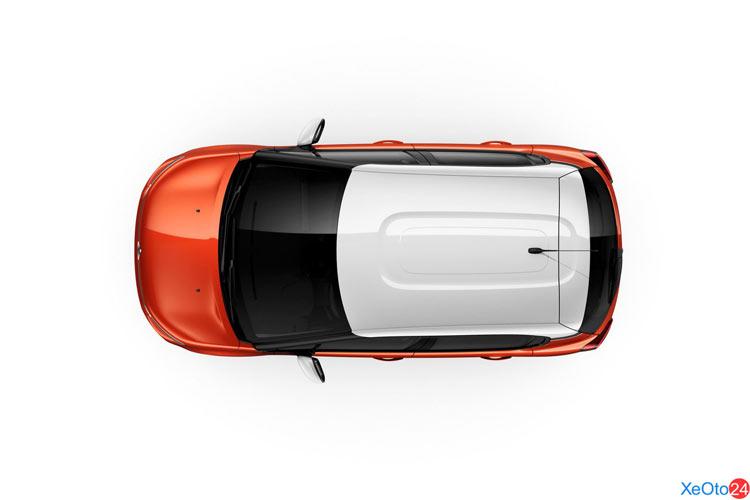 Góc nhìn từ trên xuống của chiếc xe Citroem C3