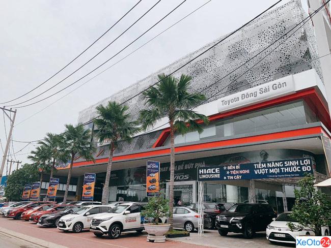 Mặt tiền của đại lý Toyota Đông Sài Gòn