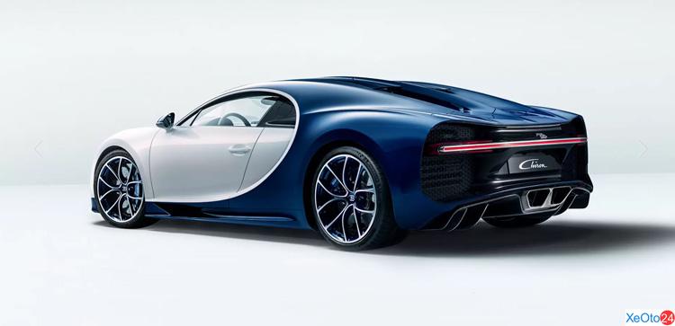 Thân và đuôi xe Bugatti Chiron