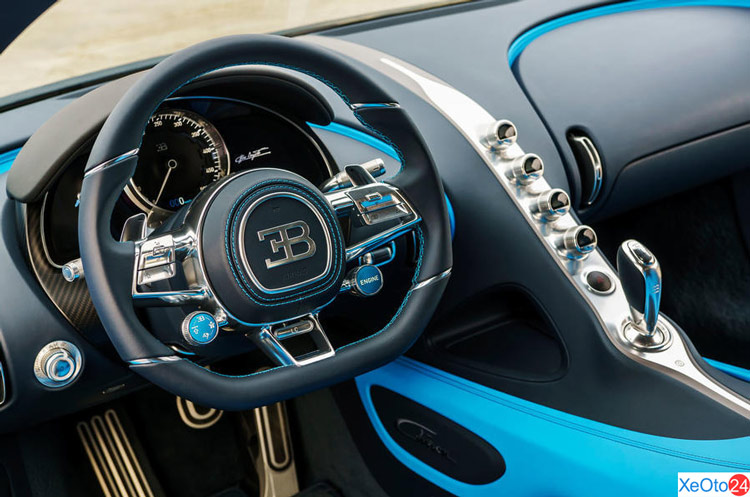 Nội thất xe Bugatti Chiron