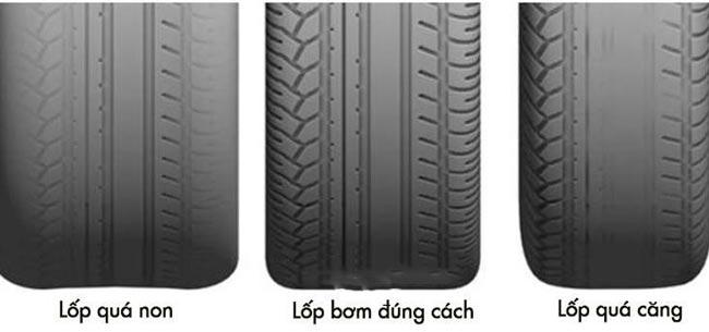 Tránh bơm lốp quá căng
