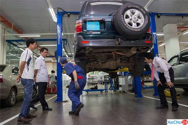 Toyota Gia Lai thay thế phụ tùng chính hãng 100%
