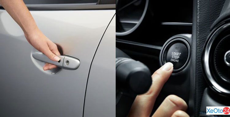 Chìa khóa thông minh trên xe Toyota Yaris