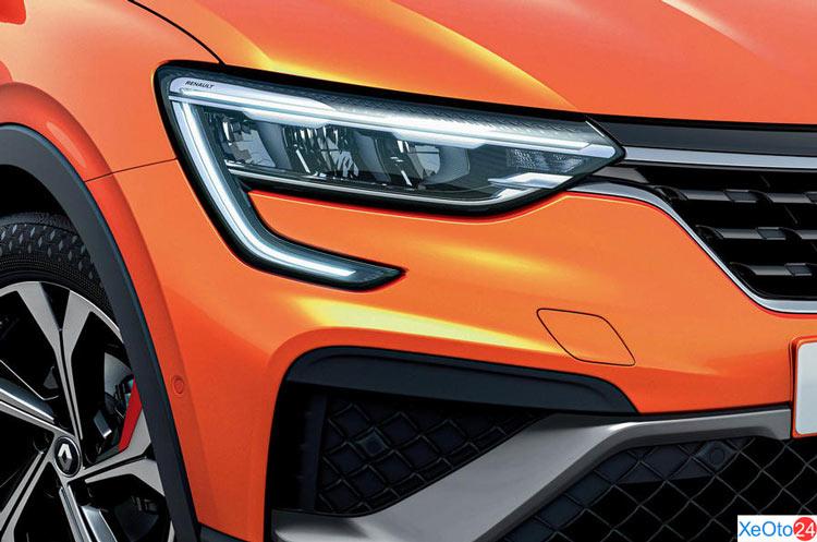 Đèn phía trước của xe Renault Arkana 2021
