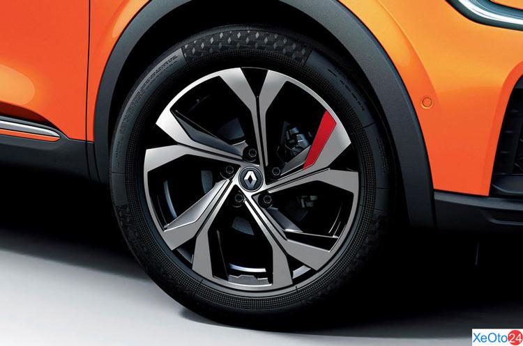 Mâm xe đẹp mắt, kiểu dáng thể thao của xe Renault Arkana 2021