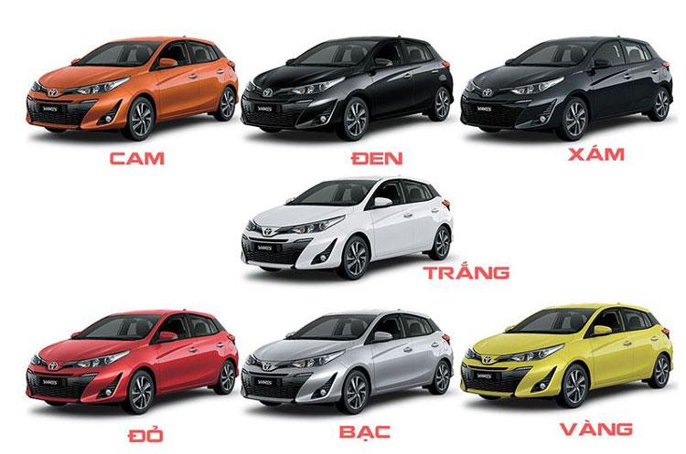 Màu xe Toyota Yaris 2021