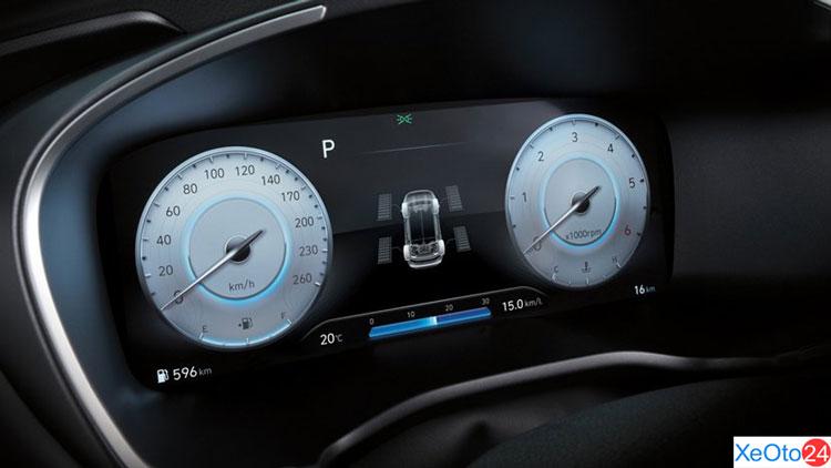 Cụm đồng hồ kỹ thuật số 12,3 inch trên xe Huyndai Santa Fe 2021