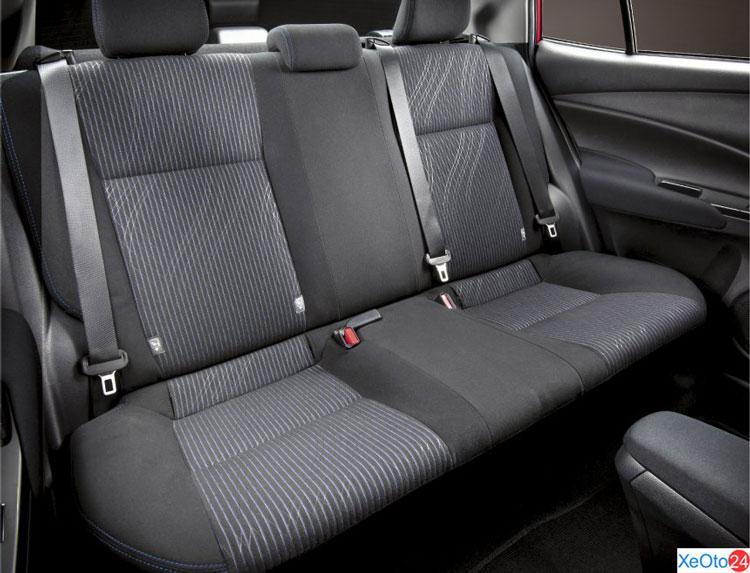 Khoang hành khách của xe Toyota Vios 2021