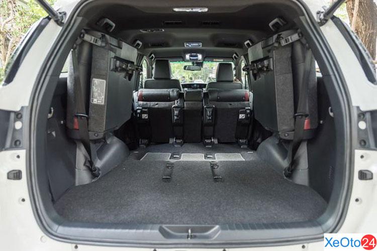 Khoang hành lý của xe Toyota Fortuner 2021