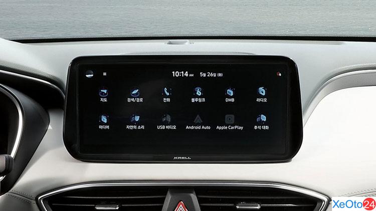 Màn hình cảm ứng 10,25 inch trên xe Huyndai Santa Fe