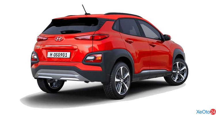 Phần đuôi xe Huyndai Kona 2021