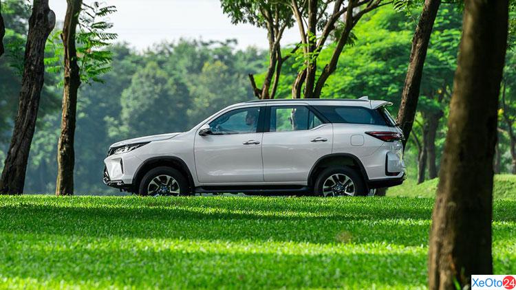 Phần thân xe Toyota Fortuner 2021