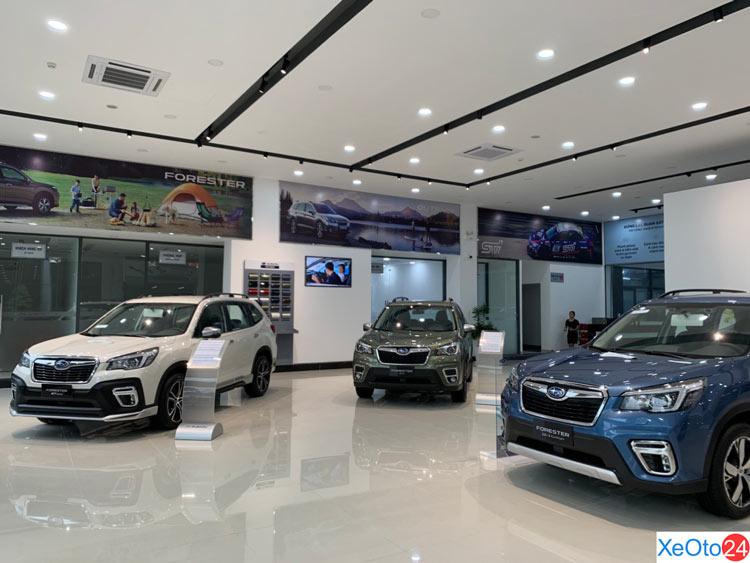 Phòng trưng bày xe của trung tâm Subaru Gia Định