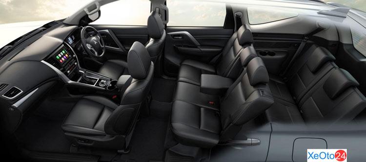 Tổng quan nội thất xe Mitsubishi Pajero Sport 2020