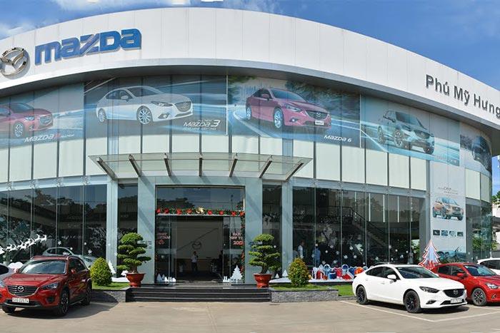 Đại lý Mazda Phú Mỹ Hưng nằm ở vị trí thuận lợi về giao thông