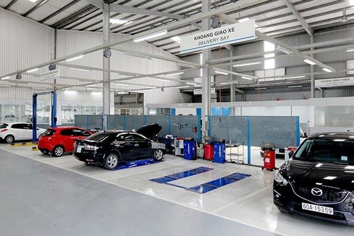Khu vực tiếp nhận sửa chữa tại Mazda Tây Ninh - Mazda Gò Dầu