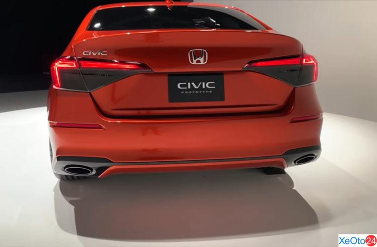 Phần đuôi xe Honda Civic 2022