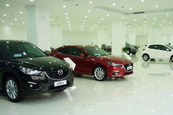 Xe trưng bày trong Showroom Mazda Tây Ninh - Mazda Sài Gòn