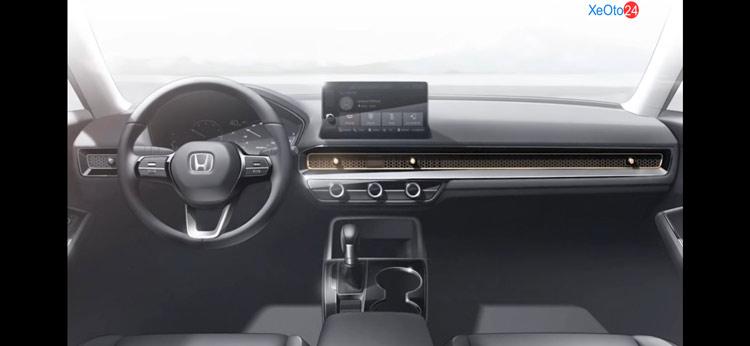 Nội thất Honda Civic 2022 được tiết lộ nhẹ