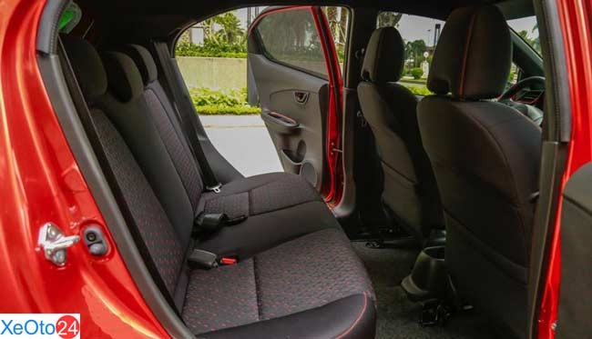 Hàng ghế 2 xe Honda Brio 2021