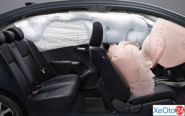 Hệ thống túi khí trên xe Honda City 2021