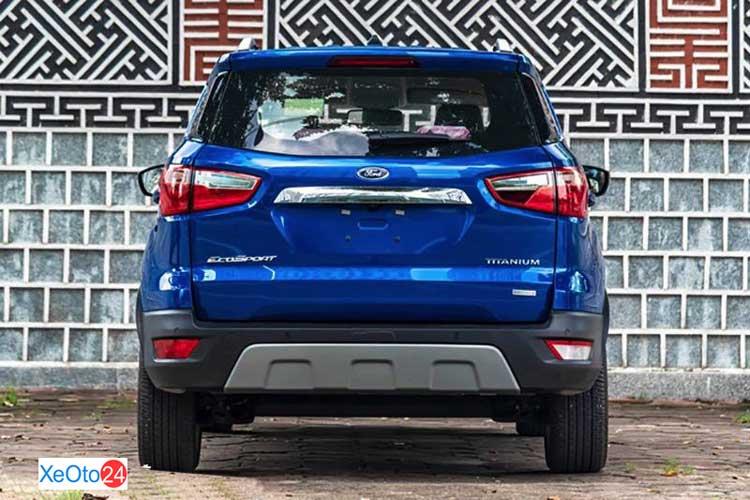 Phần đuôi xe Ford Ecosport 2021