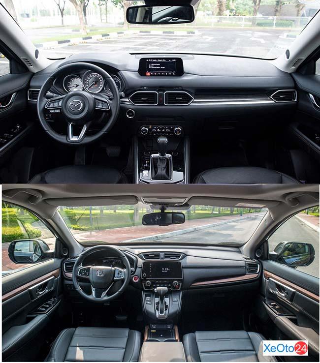 So sánh khoang lái xe CR-V và CX-5