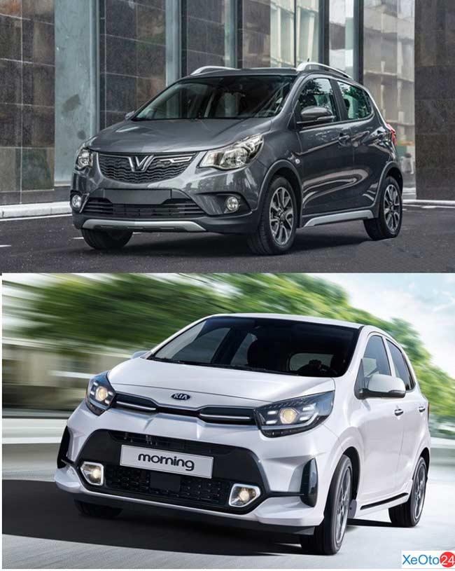 So sánh xe Vinfast Fadil và Kia Morning 2021