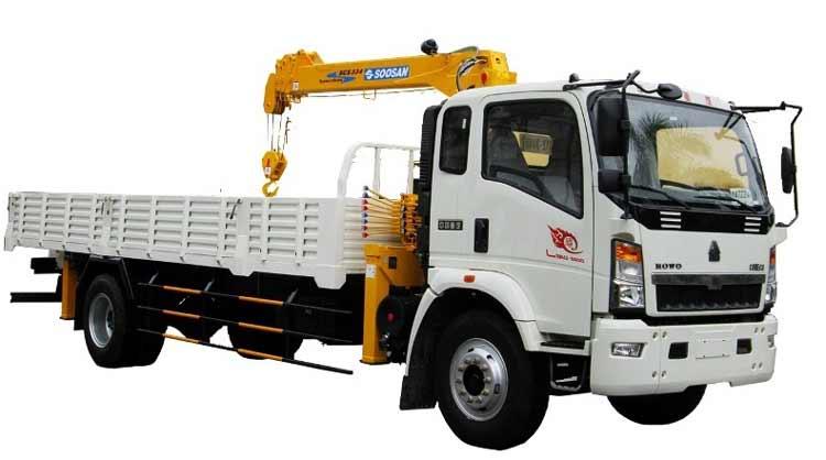 Xe tải gắn cẩu Howo