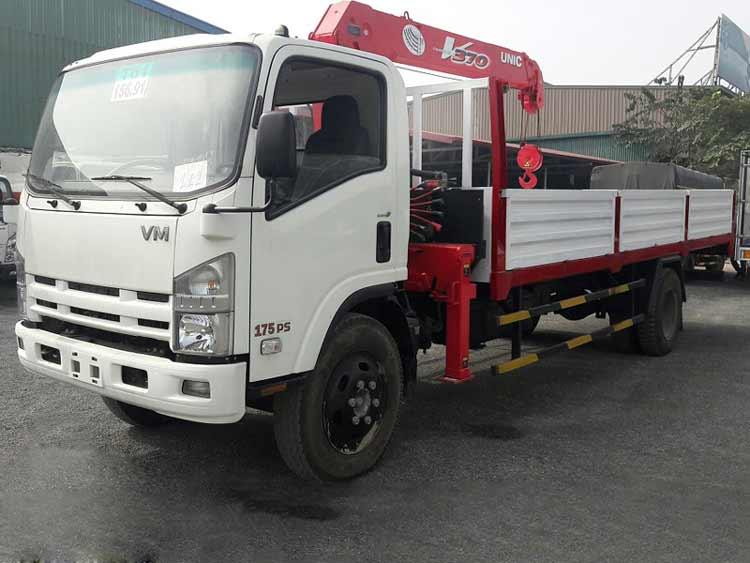 Xe tải gắn cẩu Isuzu Vĩnh Phát