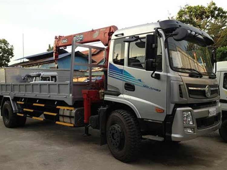 Xe tải gắn cẩu Trường Giang