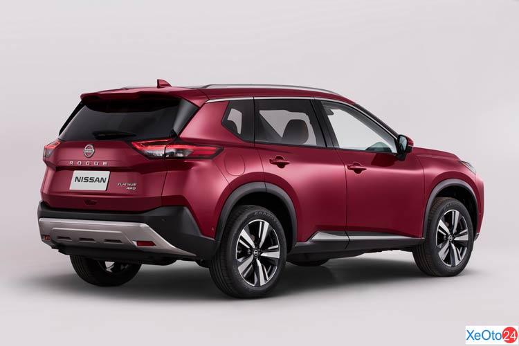 Phần đuôi xe Nissan X-Trail 2021