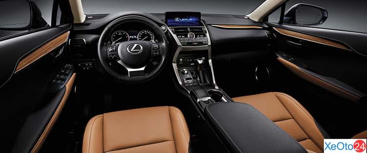 Tổng quan khoang lái xe Lexus NX300 2021