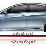 Tổng quan về kích thước tổng thể của một chiếc xe ô tô